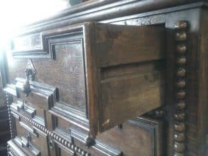 Side hung drawers and dovetailing, an early furniture innovation.