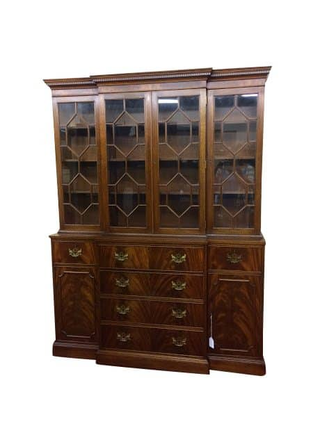 vintage china cabinet - Antique Breakfront Cabinet
