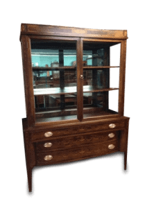 Hepplewhite Style Inlaid China Cabinet
