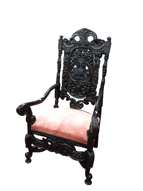 antique gothic chair Antique Carved Chair Antique Gothic Pierced Carved  Highback Chair - Antique Gothic Chair ⋆ Bohemian's