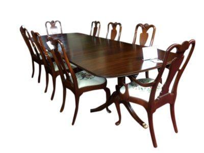 used henkel harris dining table mahogany three boards for sale