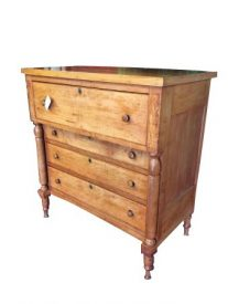 Cherry, Mahogany And Poplar Antique Empire Chest