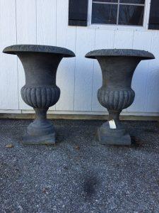 cast iron garden urn