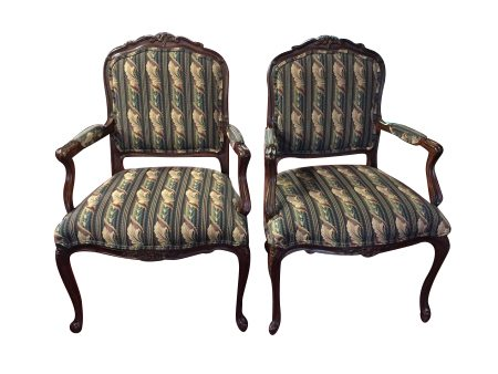 Ethan Allen Chairs - Ethan Allen Chairs - French Style Pair