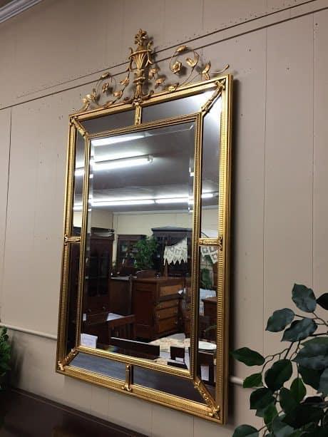 U201cSOLDu201d Adams Style Gilded Beveled Mirror