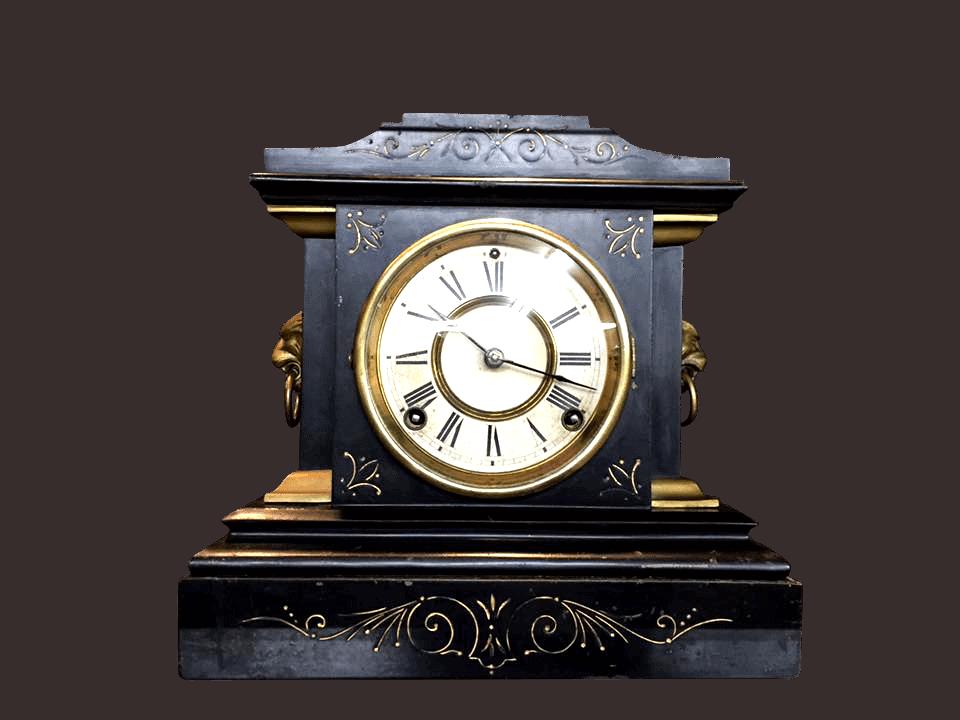 Antique crystal mantel clocks