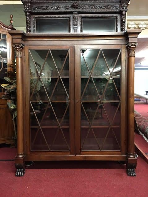 Antique Bookcase Glass Door China Cabinet Bohemians
