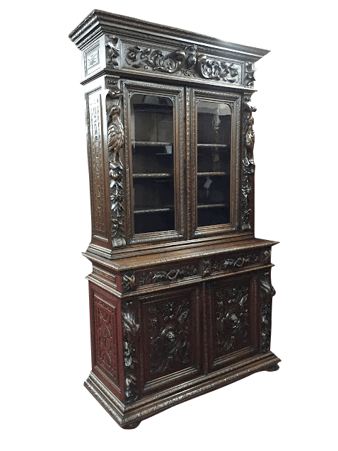antique oak cabinet - Antique Oak Cabinet - French ⋆ Bohemian's