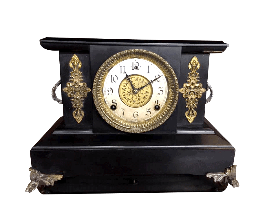 Antique iron mantel clocks