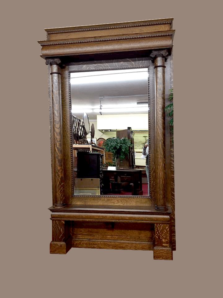 Antique Full Length Wall Mirror Bohemian S