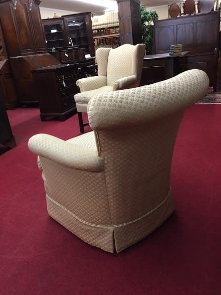 rolled arm upholstered chair