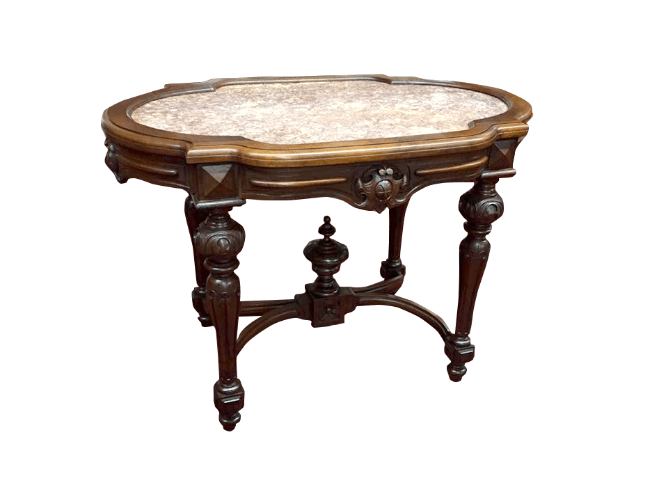 Antique Victorian Table. Victorian Marble Top ...