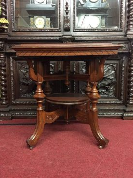 carved victorian table