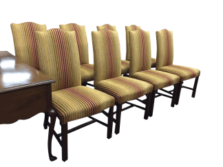 Henkel Harris Set of Eight Dining Room Chairs