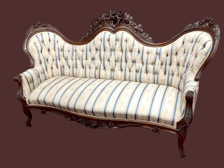 Rococo Antique Victorian Sofa
