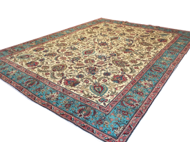Tabriz Persian Carpet 10 ft by 12 ft 9″