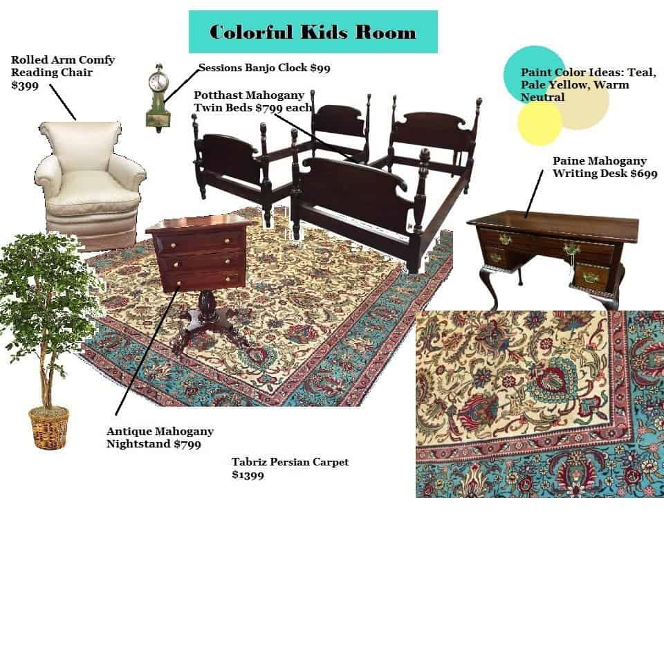Childrens room decorating bohemian 39 s antique furniture Vintage childrens room decor