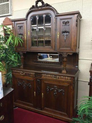 Antique French Cabinet U2013 Walnut Hutch