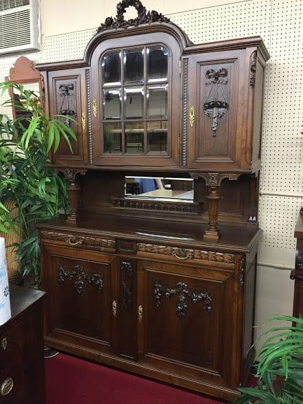 Art Nouveau French Cabinet - Antique French Cabinet - Walnut Hutch ⋆ Bohemian's