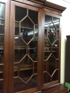 vintage breakfront cabinet