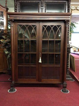 Antique bookcase glass doors bohemians antique bookcase planetlyrics Image collections