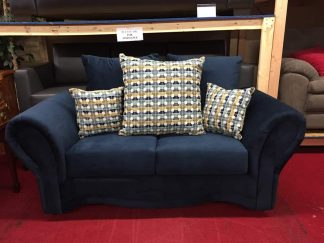 blue loveseat