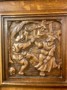 carved antique cabinet