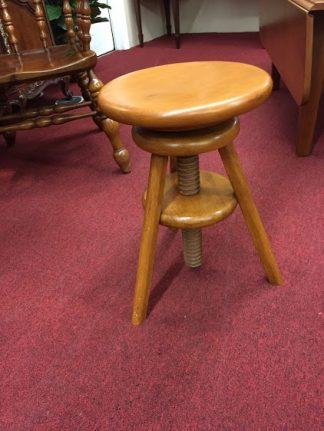 cherry piano stool