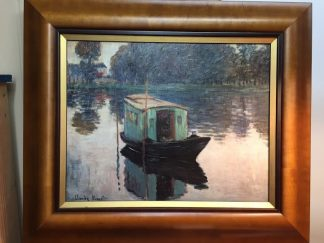 monet giclee of boat