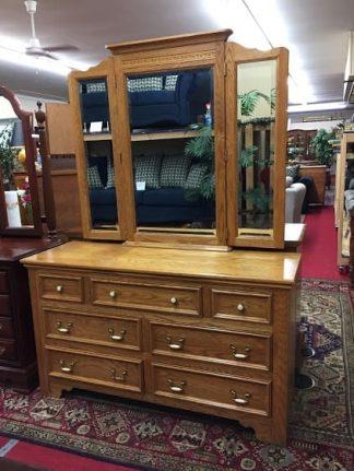 pennsylvania house oak dresser with mirror