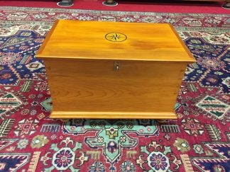 cherry inlaid box with lock