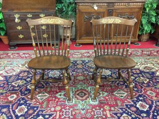 hitchcock stenciled chairs in cherry