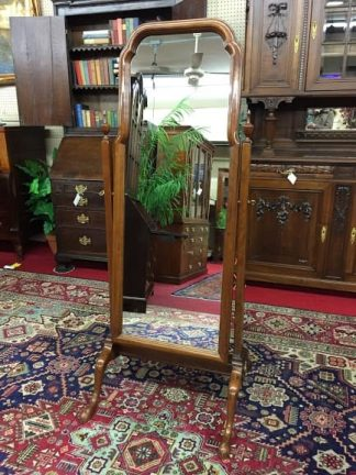 stickley cherry cheval mirror