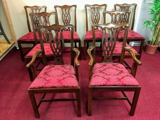 hickory chair mahogany chippendale dining chairs