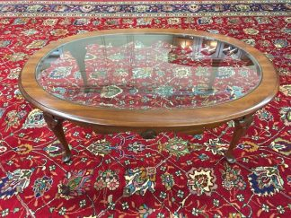 Pennsylvania house glass top coffee table