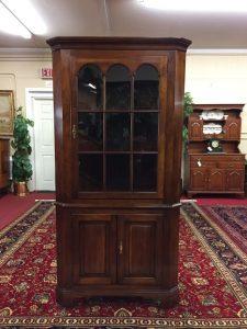 statton cherry corner cabinet