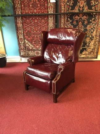 Leathercraft Burgundy Reclining Chair