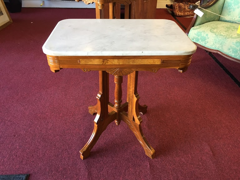 Antique Marble Top Table Bohemian S