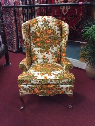 Wing Back Chair with Pheasant