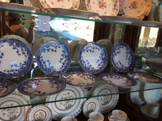 blue and white dessert plates