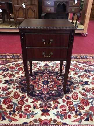 Two Drawer Mahogany End Table