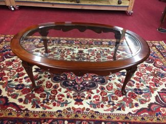 Pennsylvania House Glass Top Cherry Coffee Table