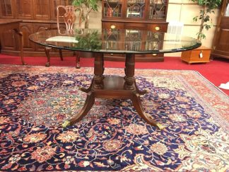 Pennsylvania House Glass Top Dining Table