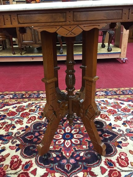 Antique Victorian Marble Top Accent Table ⋆ Bohemian S