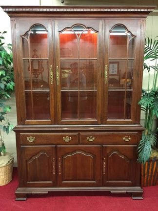 Pennsylvania House lighted china cabinet