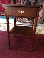 Suter's Walnut Stand with Drawer
