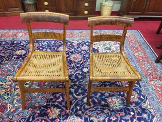 Antique Tiger Maple Chairs