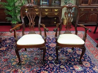 Councill Craftsman Mahogany Arm Chairs