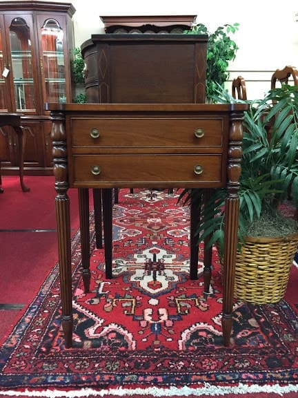 Norris Furniture Two Drawer End Table ⋆ Bohemian S