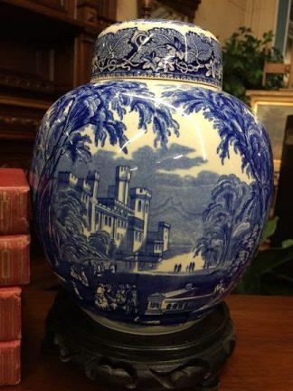 Mason's Ironstone Blue and White Ginger Jar